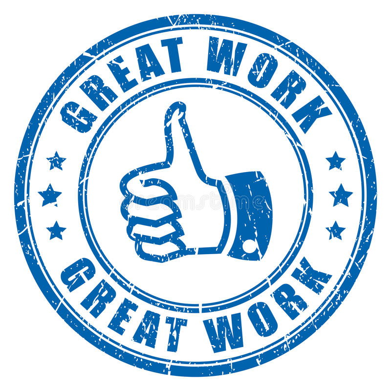 Great work rubber stamp stock illustration