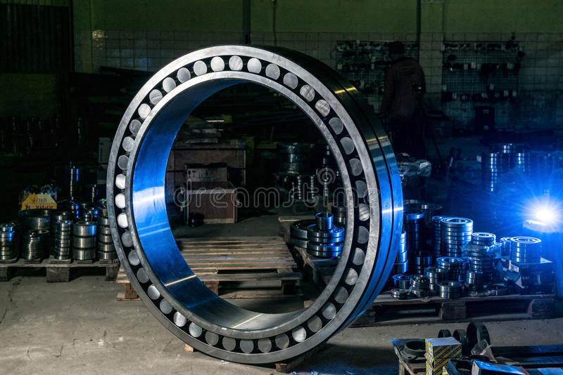 Great worth bearing in stock bearings. In blue light stock photos