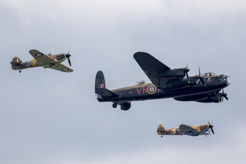 Battle of Britain Memorial flight at Great Yarmouth Air show 2018 stock photography