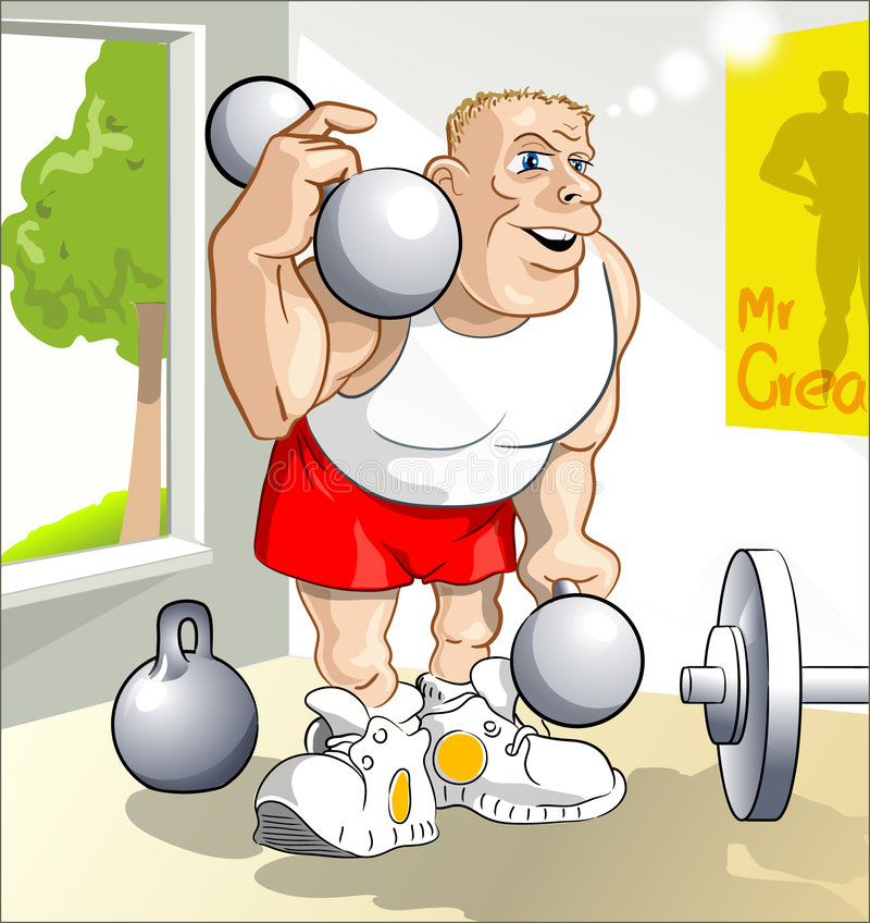Download Great young body-builder stock illustration. Image of window - 2475821