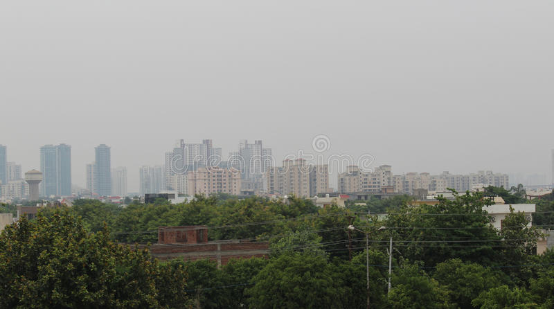 Greater Noida. High rise buildings in Greater Noida, Uttar Pradesh, India stock photography