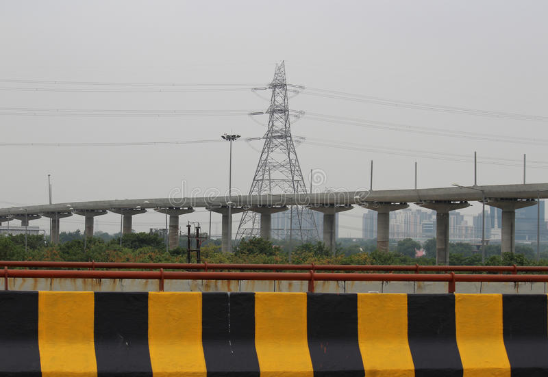 Greater Noida. Infrastructure in Greater Noida, Uttar Pradesh, India. Photograph taken from Yamuna Expressway royalty free stock photography