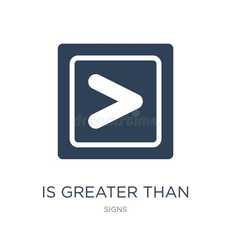is greater than icon in trendy design style. is greater than icon isolated on white background. is greater than vector icon simple vector illustration
