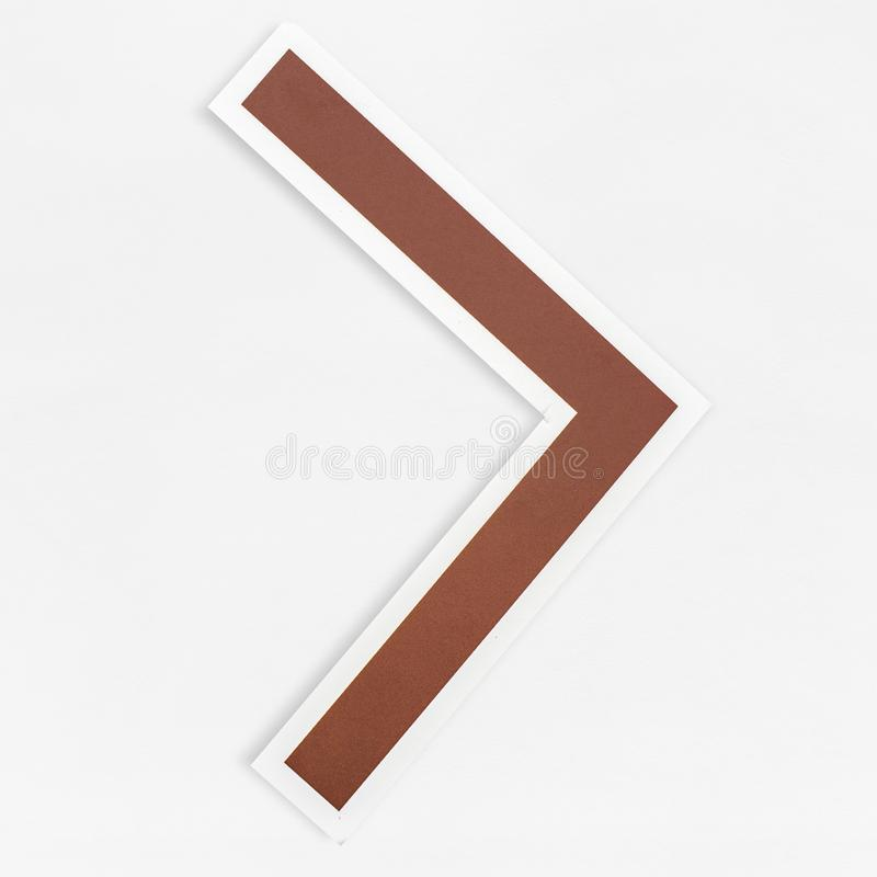 Greater than math sign icon isolated stock photography