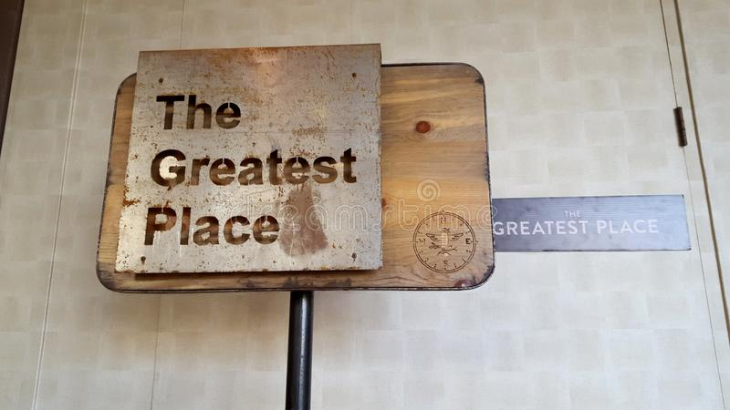 The Greatest Place - Sign royalty free stock images