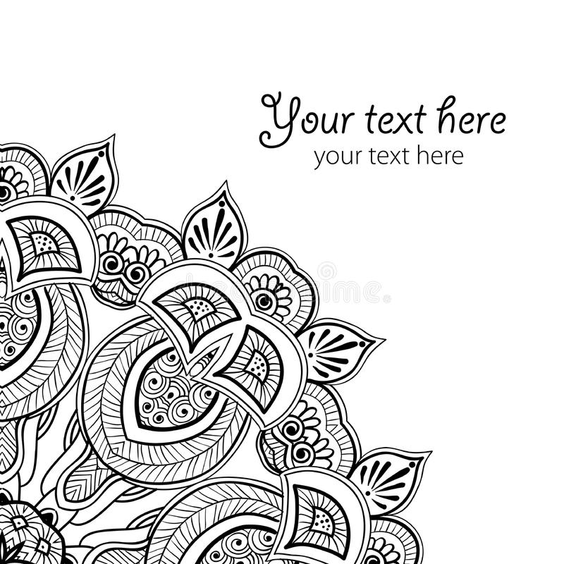 Greatingskaart met kantornament vector illustratie