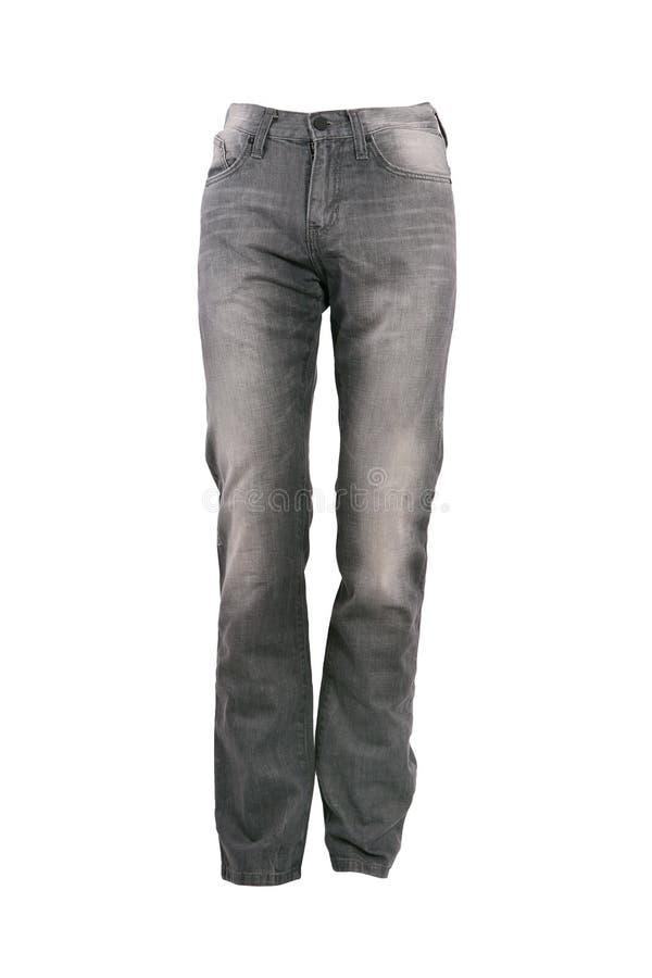 greay牛仔裤长裤 免版税图库摄影