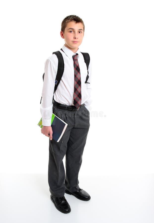 greay брюки студента рубашки школы белые стоковые изображения rf