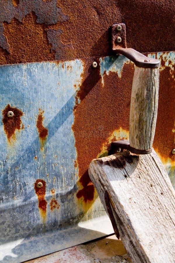 Grec et la Chypre traditionnels Oven Door Detail photographie stock