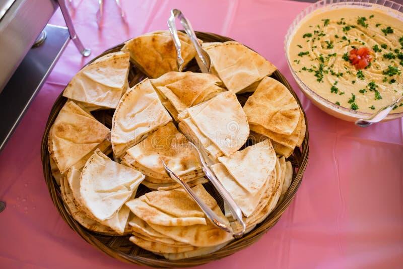 Grec Pita Dinner à la réception de mariage photo stock