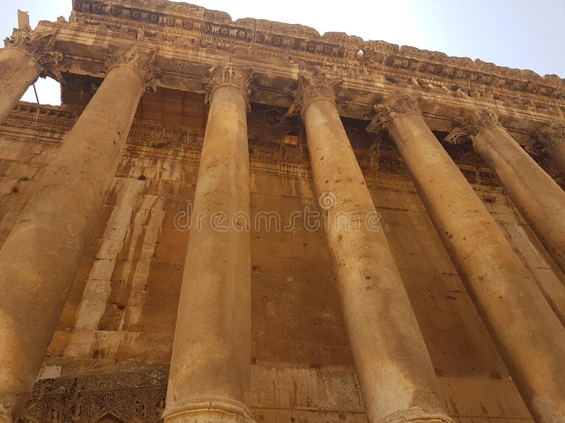 Grec romain antique Moyen-Orient de colonne photographie stock libre de droits