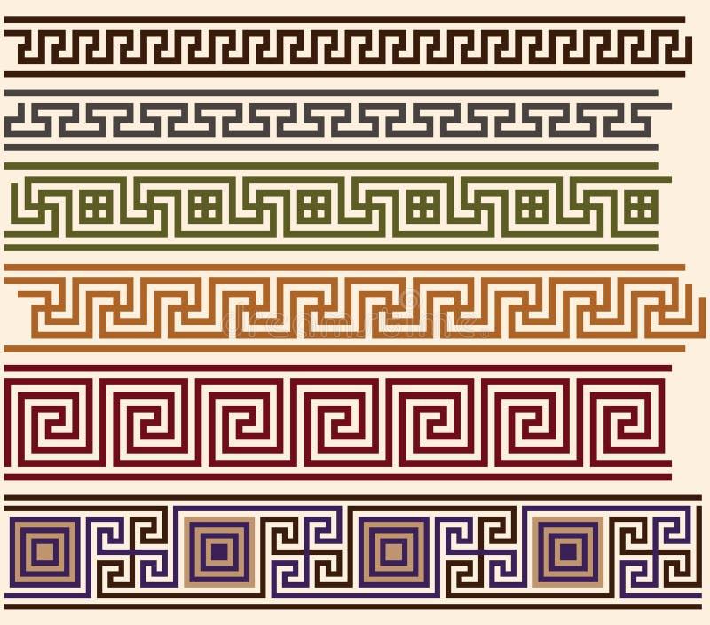 greccy meandery ilustracja wektor