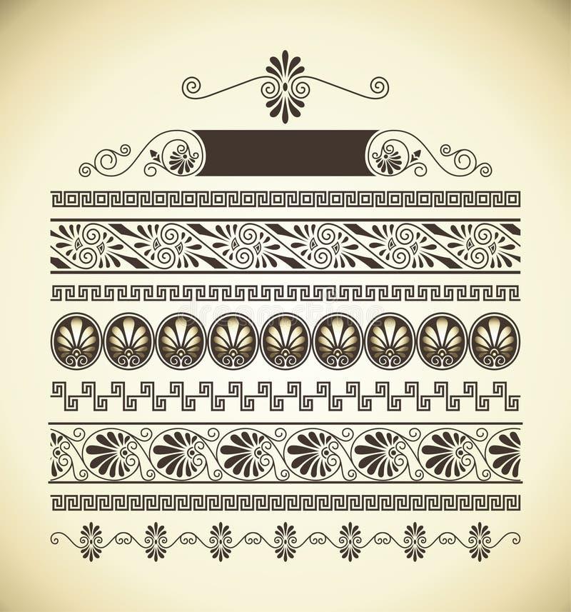 greccy wzory royalty ilustracja