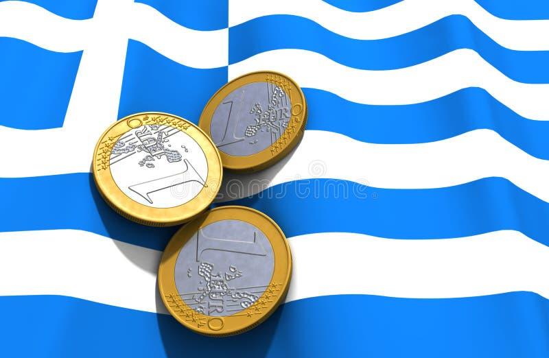 Grece Money Flag royalty free illustration