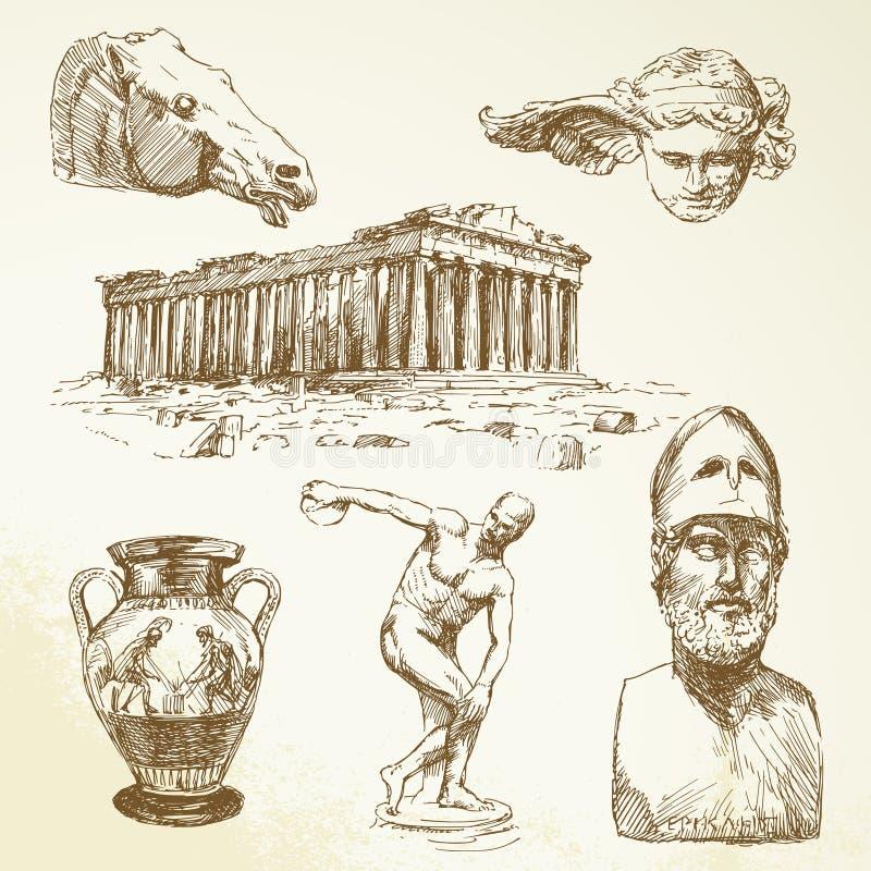 Grecia antigua stock de ilustración