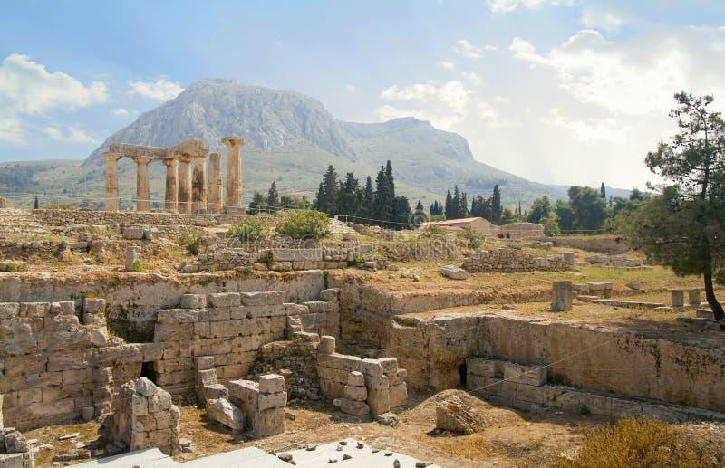 Grecia antigua de excavación fotografía de archivo