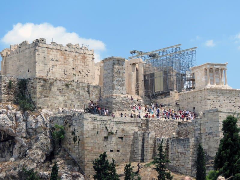 Grecia, Atenas, mucha gente quiere ver foto de archivo libre de regalías
