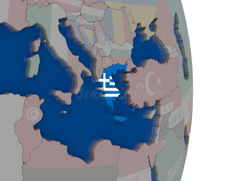 Grecia con su bandera libre illustration