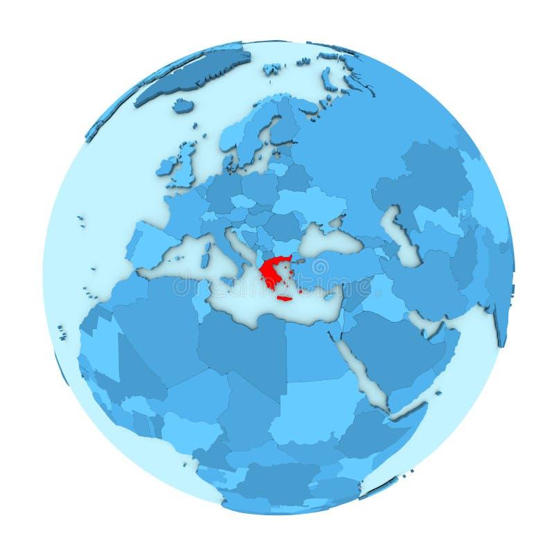 Grecia en el globo aislado ilustración del vector
