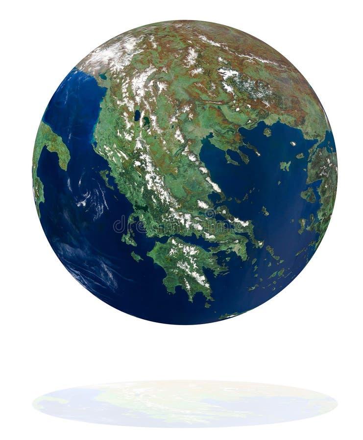 Grecia en el planeta de la tierra stock de ilustración