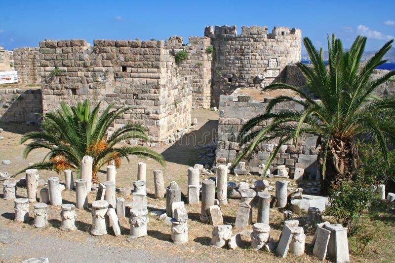 Grecia. Kos. El castillo foto de archivo libre de regalías