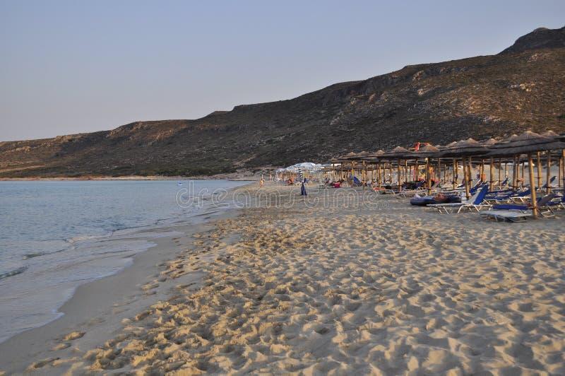 Grecia Peloponeso Isla de Elafonisos Paisaje marino fotografía de archivo