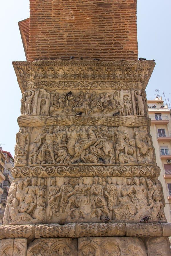 Grecia, Salónica, arco de Galerius imagenes de archivo