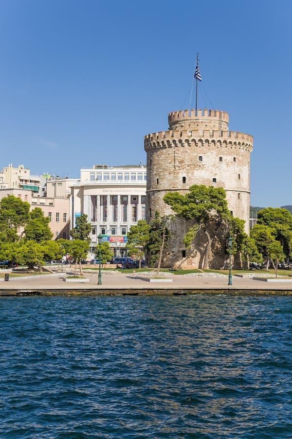 Grecia, Salónica. La torre blanca foto de archivo libre de regalías