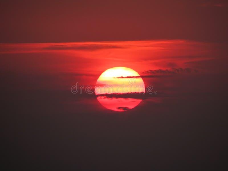 Grecia, Santorini, Imerovigli, puesta del sol, visión fotografía de archivo libre de regalías