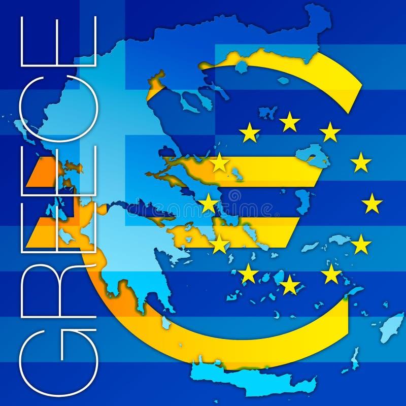 Grecia y los símbolos euro libre illustration