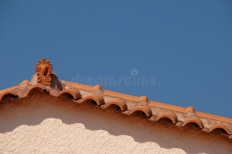 Grecian Rooftop Stock Images