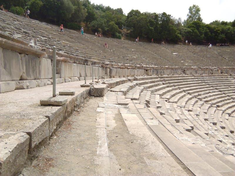 Grecja antyczny theatre przy Epidavros obrazy royalty free
