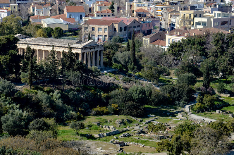 GRECJA ATENY, MARZEC, - 25, 2017: Świątynia Hephaestus zdjęcie royalty free