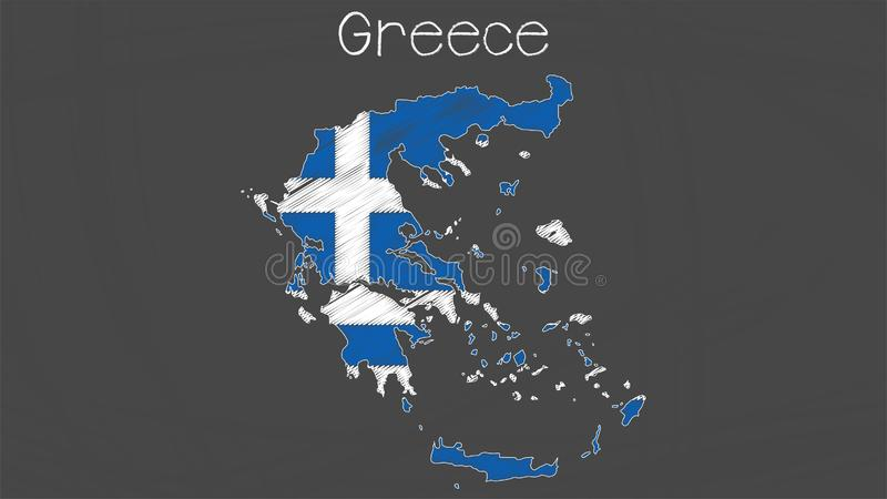 Grecja flagi ilustracja ilustracji