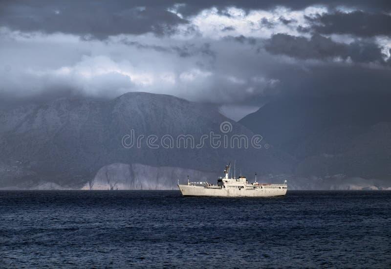 Grecja Góry i morze obrazy royalty free