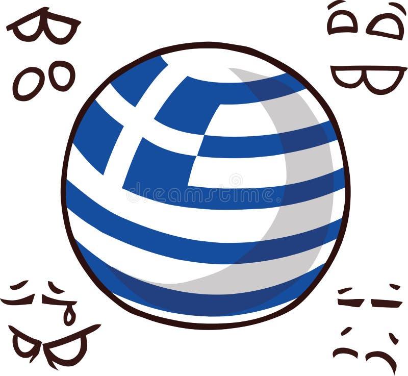 Grecja kraju piłka ilustracji
