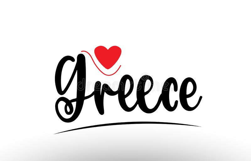 Grecja kraju teksta typografii logo ikony projekt royalty ilustracja