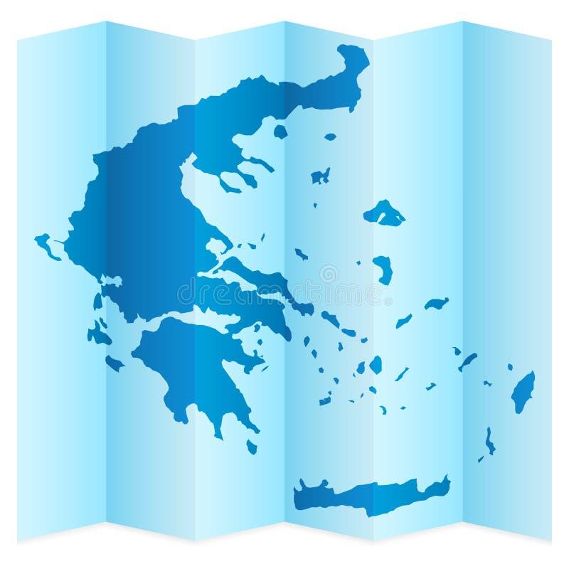 Grecja mapa royalty ilustracja
