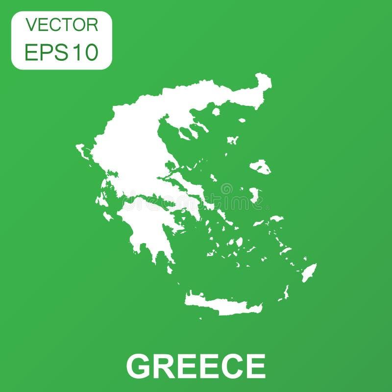 Grecja mapy ikona Biznesowy pojęcia Grecja piktogram wektor royalty ilustracja