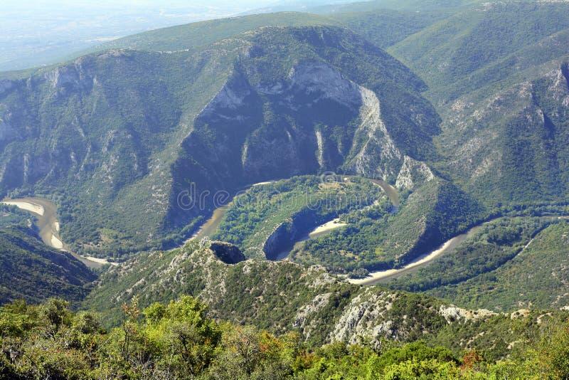 Grecja, Nestos teren fotografia royalty free
