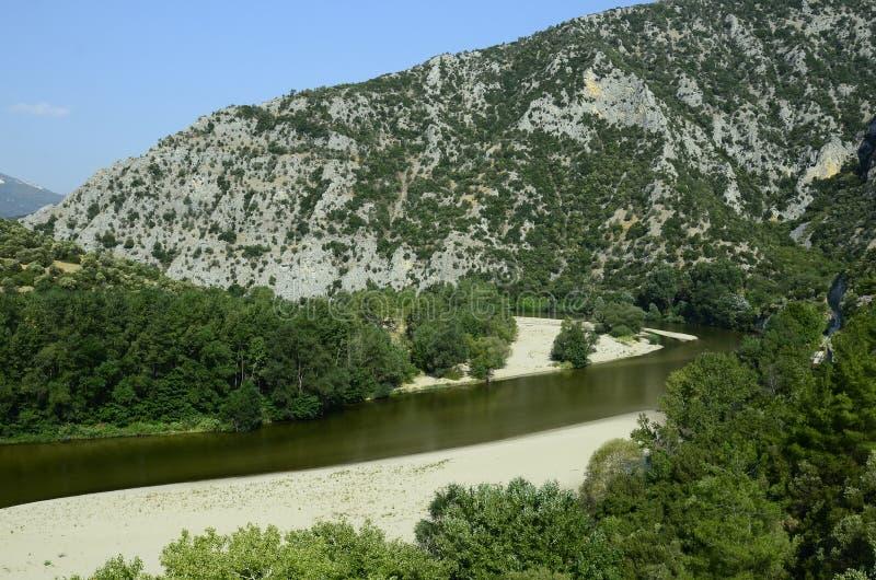 Grecja, Nestos wąwóz zdjęcia stock