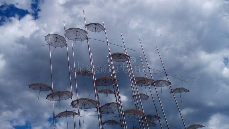Grecja parasol zdjęcia royalty free