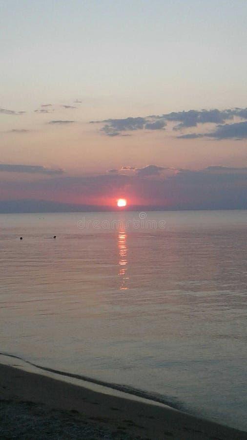 Grecja, Saloniki, morze, obraz royalty free