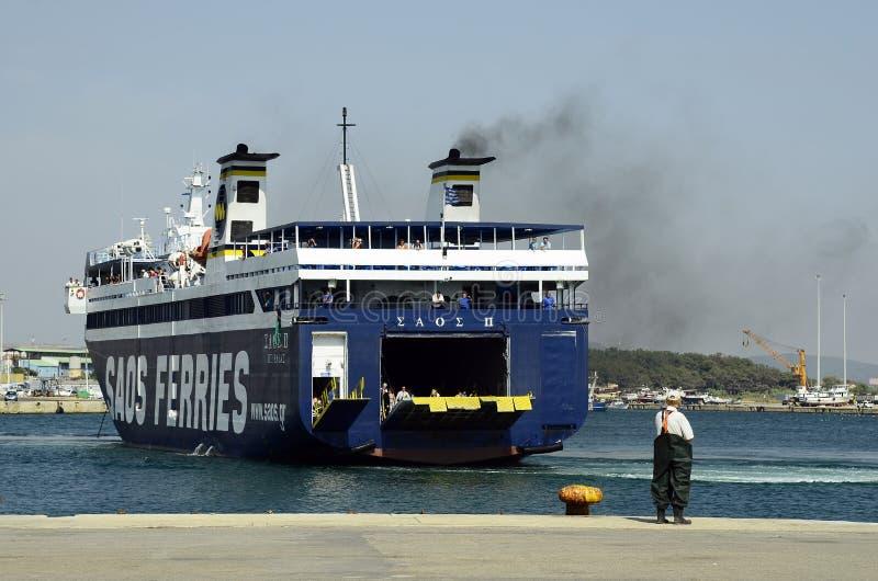 Grecja, statek, transport obraz stock