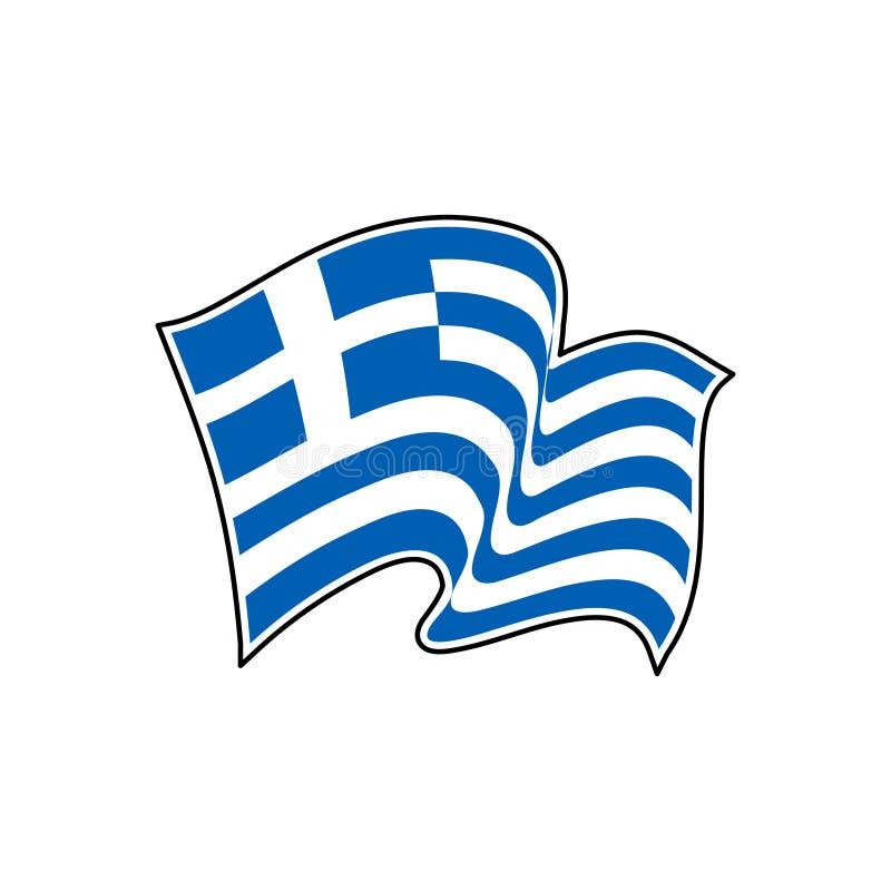 Grecja wektoru flaga athens ilustracji