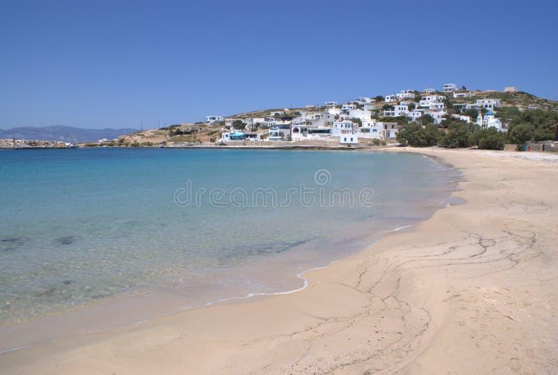 Grecja wyspa Donoussa grodzka plaża fotografia stock