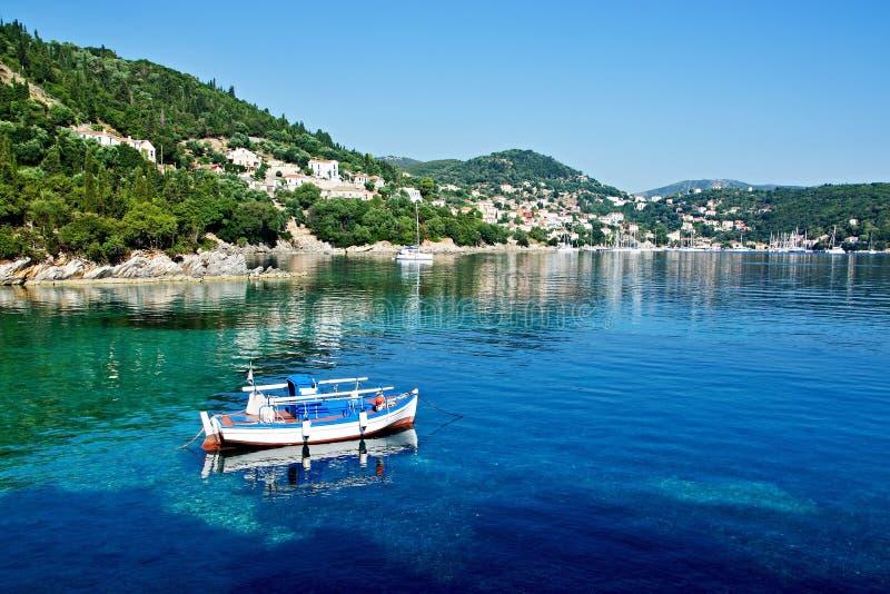 Grecja wyspa Ithaki - widok Kioni obraz royalty free