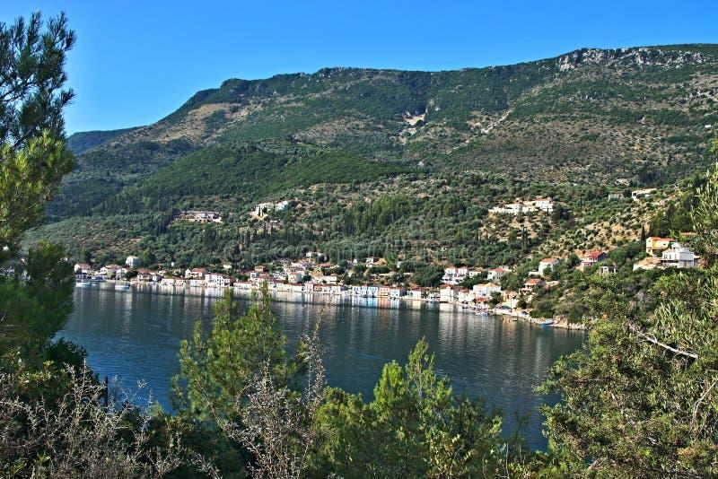 Grecja wyspa Ithaki - widok Vathi zdjęcie royalty free