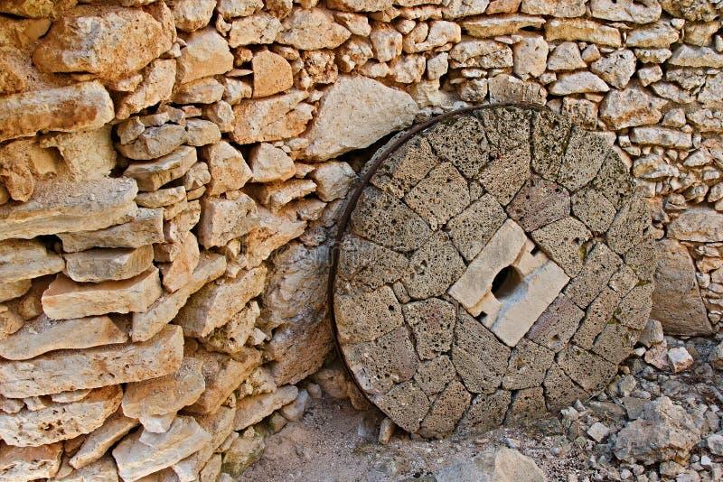 Grecja, wyspa Stary kamień w młynie w Frikes obraz stock