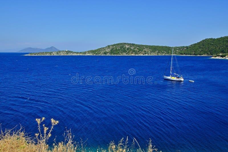 Grecja, wyspa widok wyspa Atokos zdjęcia stock